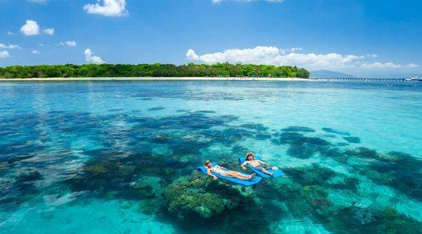 Snorkeling around Green Island